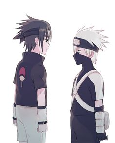 Little Sasuke and little Kakashi :D