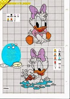Discover thousands of images about Baby Disney cross stitch Disney Cross Stitch Patterns, Cross Stitch For Kids, Cross Stitch Baby, Cross Stitch Charts, Cross Stitch Designs, Cross Stitching, Cross Stitch Embroidery, Embroidery Patterns, Stitch Disney