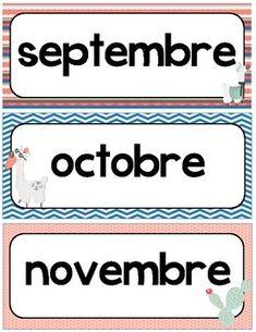 Affiches des mois de l'année pour créer votre calendrier de classe ou un coin anniversaire. How To Plan, Coin, Classroom Calendar, Seasons Months, Color Activities, Birthday Calendar Board, Posters
