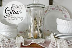 Easy Glass Etching -