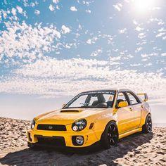 Subaru Wrx Wagon, 2015 Subaru Wrx, Subaru Cars, Subaru Impreza, Jdm Cars, Cool Car Stickers, Good Looking Cars, Yellow Car, Mitsubishi Lancer Evolution