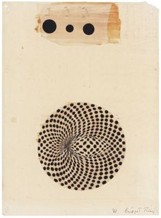 """topcat77: """" Bridget Riley Untitled (Study for Circular Movement), (1961) Ink, gouache and pencil on paper """""""