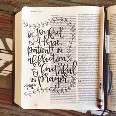 Such lovely Bible Journaling by @_daniellekap! Learning to hand letter in so important when creating Bible journaling entries!