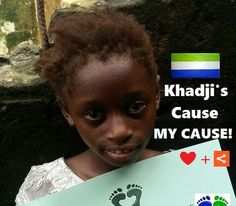 Meet WEDNESDAY'S CHILD, Ebola's orphan Khadji, age 6. Help Khadji raise awareness - Pin me - ❤ me + share me for 12,000+ EbolaGeneration.                SUPPORT KHADJI'S cause FIND her friends & CREATE your own Board #4EbolaOrphans ! Mix it up with pins of your own - Get creative #4ebolaorphans & we'll feature every Board on our website to show our appreciation