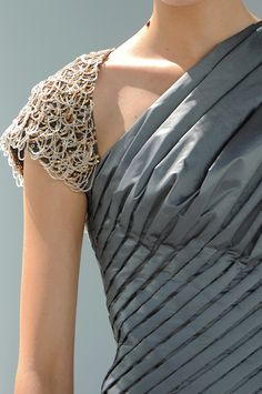 A dress with seed pearls for Wylla Manderly: Chanel haute couture, fall 2008