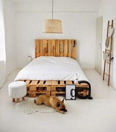 diy Bett aus Paletten selber bauen