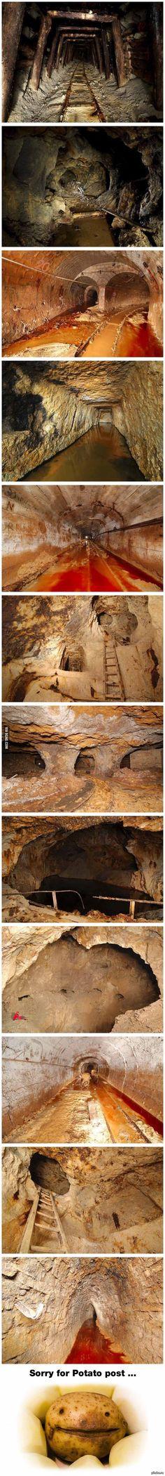 Заброшенные шахты в Румынии.