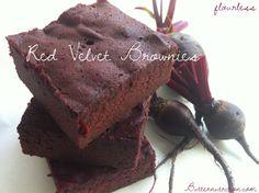 Flourless Red Velvet Beet Brownies