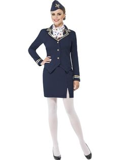 Airways Flight Attendant Stewardess Adult Costume