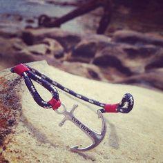 Tom Hope , Atlantic Red anchor bracelet fashion nautical