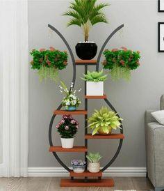 Get a Flower Pot Holder for Your Flower Garden - Life ideas House Plants Decor, Plant Decor, Home Decor Furniture, Diy Home Decor, Flower Pots, Flowers, Flower Stands, Plant Shelves, Iron Decor