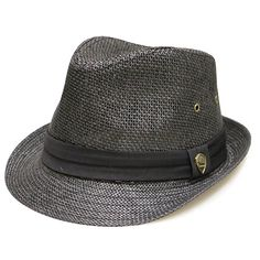 City Hunter Pms500 Solid Paper Toyo Trilby Straw Fedora Hats Black L XL Fedora  Hats 01f480258095