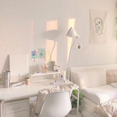 Study Room Decor, Small Room Bedroom, Bedroom Design, Room Inspiration, Minimalist Room, Bedroom Decor, Aesthetic Bedroom, Room Design, Room Decor