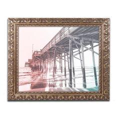 Ariane Moshayedi 'Newport Pier MultiColor' Ornate Framed Art