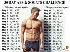 30 day abs and squats challenge by flossie