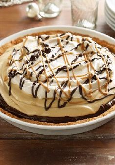 Mile-High Peanut Butter Pie – What's better than layer upon layer of chocolate and creamy peanut butter? A pie made of the same, with (even more) warm chocolate and PB drizzled on top.