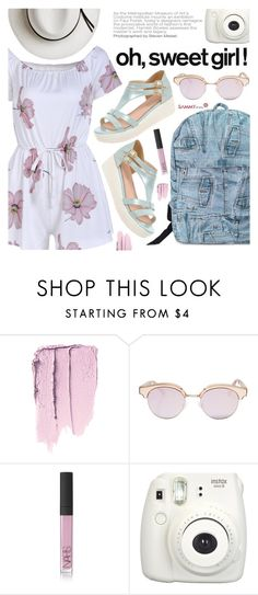 """Pack & Go:Tokyo"" by pokadoll ❤ liked on Polyvore featuring Le Specs, NARS Cosmetics and Calypso Private Label"