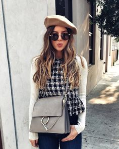 Outfits, going out outfits, outfits with hats, classy outfits, outf Stylish Winter Outfits, Winter Outfits For Work, Winter Fashion Outfits, Classy Outfits, Fall Outfits, Autumn Fashion, Work Outfits, Chic Outfits, Fashion Clothes