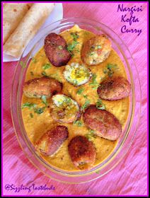 Sizzling Tastebuds: Nargisi Kofta Curry - a decadent delight. Gf Recipes, Curry Recipes, Indian Food Recipes, Cooking Recipes, Ethnic Recipes, Indian Foods, Cooking Ideas, Veg Curry, Vegetable Curry