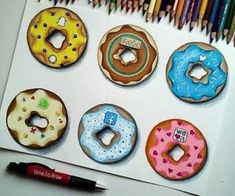 Images and videos of social media art App Drawings, Cool Art Drawings, Beautiful Drawings, Art Sketches, Cute Disney Drawings, Kawaii Drawings, Social Media Art, Food Drawing, Medium Art