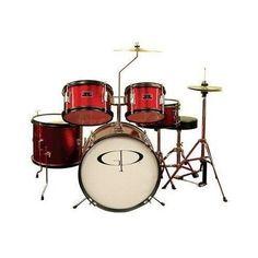 Junior Drum Set 5 Piece Cymbals Pedal Sticks GP Percussion  Music Instrument