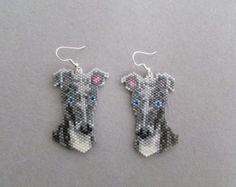 Beaded Greyhound Earrings