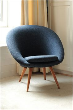 newly upholstered vintage chair