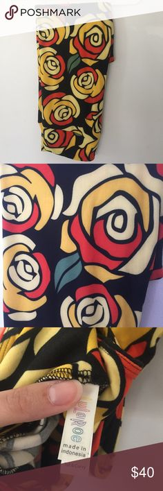 LuLaRoe TC Beauty and the Beast Rose Leggings LuLaRoe TC Beauty and the Beast Rose Leggings. Tall and curves size. I never wore these. New without a bag/tags. Smoke free home.  Asking what I paid for them. LuLaRoe Pants Leggings