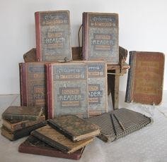 Antique McGuffey School Books & Others