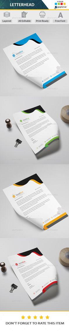 #Letterhead - Stationery Print Templates Download here: https://graphicriver.net/item/letterhead/20292390?ref=alena994