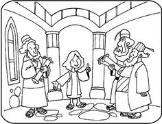 12 year old Jesus in temple coloring - Google Search