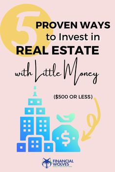 Did you know that there are plenty of ways to invest in real estate with little money? You are in luck! We are here to show you some of the cheap ways to get started in real estate investing. Investing In Stocks, Investing Money, Real Estate Investing, New Business Ideas, Real Estate Business, Saving For Retirement, Early Retirement, Earn Money Online, Make Money Blogging