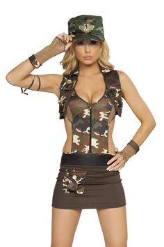 major hottie costumesexy army costume army girl costume army - Halloween Army Costumes