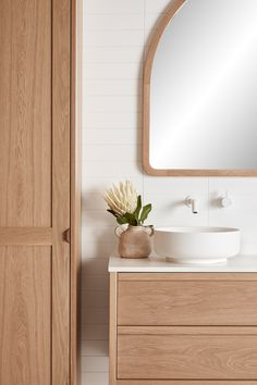 Kyal and Kara have project managed, designed or completed over 25 renovation projects. Bathroom Renos, Laundry In Bathroom, Washroom, Timber Vanity, Deco Design, Beautiful Bathrooms, Bathroom Interior Design, Home Decor Accessories, Modern Bathroom Accessories