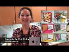 LovenStamps Video Tutorial: Make your own Pop-Up Corner Album - Stamps in the Mail Club, with the It's My Party Designer Series Paper, Party Pop-Up Thinlits and the Sunburst Thinlits Die. Fancy Fold Cards, Folded Cards, Mini Album Tutorial, Diy Tutorial, Make Your Own Card, Card Making Tips, Birthday Cards For Women, Step Cards, Card Patterns