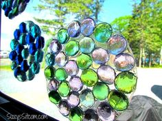 Easy to make glass sun catchers Scroll down page for easy how to tutorial