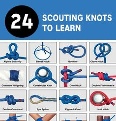 "24 Scouting Knots To Know   Thanks for reading and be sure to share this info with your friends using the social share buttons below. Talking about social stuff, consider liking our Facebook page to keep up to date with our articles. Check out our other articles for more ""mental scoops""!"
