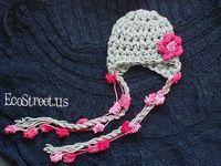 Livraison gratuite, 5 pcs/lote New Baby Beanie main crochet chapeau avec mignon fleurs cadeau de noël pour fille fleur Beanie chapeau