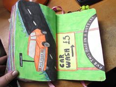 wreck this journal rub this page on a dirty car