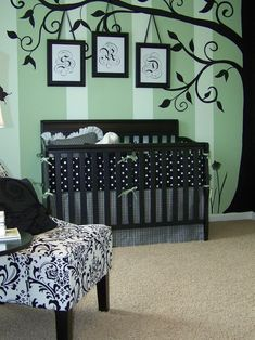 Fun and dramatic nursery, if there is ever a baby girl W!