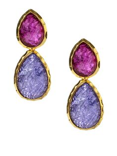 Camella Spring Double Teardrop Earrings by Amrita Singh
