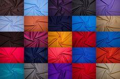 Nylon Lycra Spandex 4 Way Stretch Swimwear Activewear Fabric 58 Colors BTY