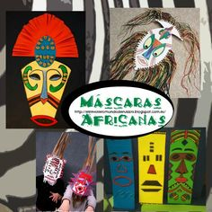Come with me to Africa African Theme, African Masks, African Safari, African Art, History Projects, Art Projects, Africa Craft, Africa Tattoos, Africa Painting