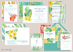 Hawaii Wedding Invitations - Tropical - Aloha - Destination Wedding - Beach Wedding - Hawaiian Wedding - Botanical Invitations - Hibiscus #hawaiiwedding #hawaiiinvitations #alohawedding #destinationwedding #beachwedding #hawaiianwedding #hibiscus #botanicalinvitation #tropicalwedding #tropicalinvitations #maui #plumeria #tropicaldestination