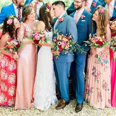 12 of the Most Swoon-Inducing Mismatched Bridesmaid Dress Looks on Insta | Brit + Co