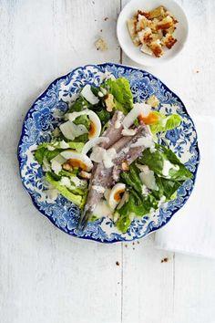 Caesar Salad - zubereitet mit Holländischem Matjes