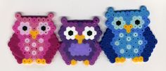 perler bead owls diy-crafts