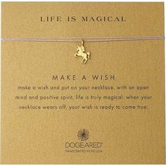 life is magical necklace unicorn