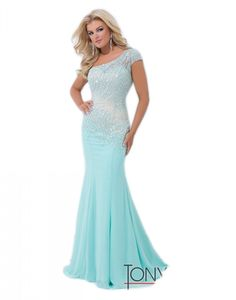 Tony Bowls Evening TBE11439 at Amazon Women's Clothing store TJ Formal, one shoulder mermaid beaded dress