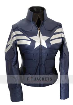 CAPTAIN AMERICA JACKET FOR WOMEN | Comes in sizes XXS-3X!